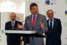 El secretario de Estado de Infraestructuras, Transporte y Vivienda, Rafael Catalá, inauguró BMP y visitó el stand de Sepes junto a la directora general, Lucía Molares