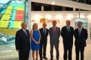 El secretario de estado de infraestructuras, transporte y vivienda, Rafael Catalá; el alcalde de Barcelona, Xavier Trias; acompañados del presidente del salón, Enrique Lacalle, visitaron el stand de Sepes