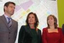 el Secretario de Estado de Planificación e Infraestructuras, Rafael Catalá, la alcaldesa de Madrid, Ana Botella, y la directora general de Sepes, Lucía Molares