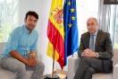 Soler recibe al alcalde de Tordesillas