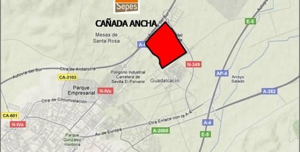 Situación Cañada Ancha