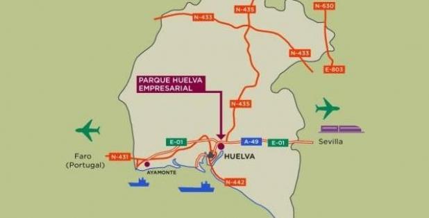 Situación Parque Huelva Empresarial
