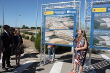 Pastor asiste a la puesta en servicio de la nueva conexión viaria del Parque Logístico Industrial de Tordesillas con la A-6
